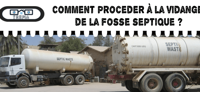 vider la fosse septique facilement